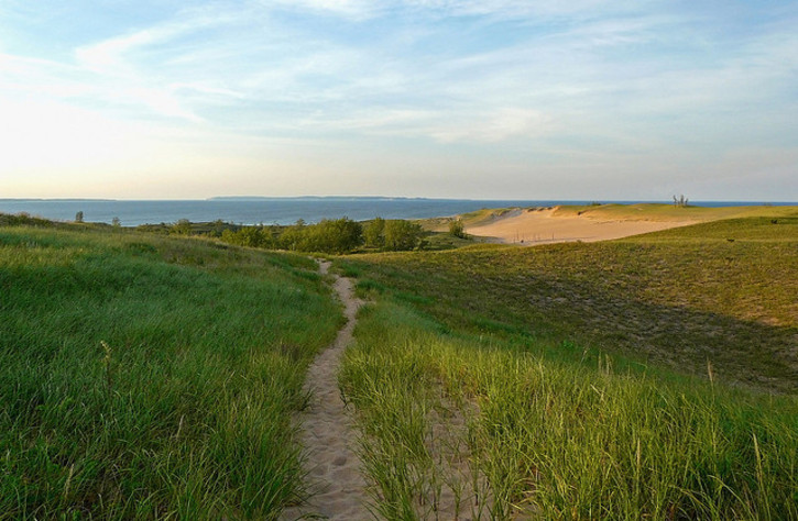 Dune Trail on Lake Michigan